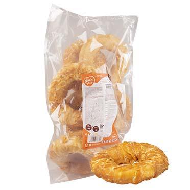 Meat! bagels de peau de bœuf & poulet large  15-18cm - 225g/st - ± 9st