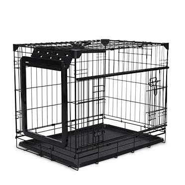 Topline dog crate sliding & folding door Black 76x53x61cm