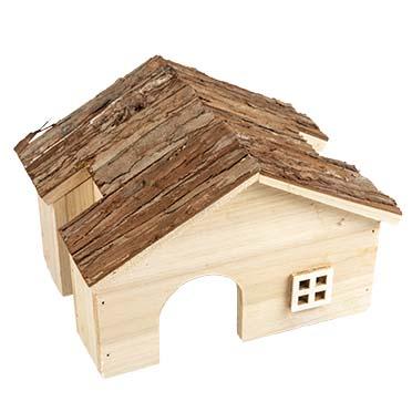 Knaagdieren houten villa 22x18x15CM
