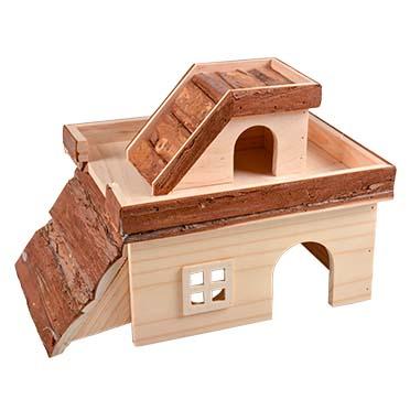 Knaagdieren houten hacienda 34x24x22CM