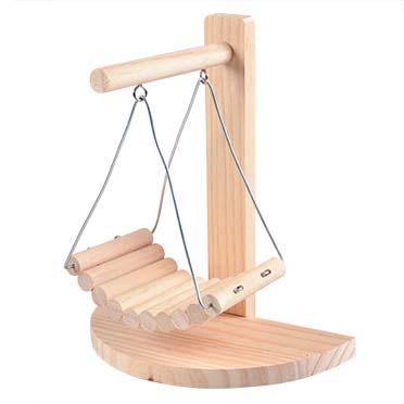 Houten schommelstoel 21,5x11,5x24CM