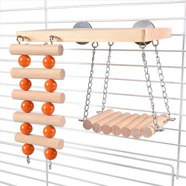 Wooden climb `n swing playground  20x27x17CM