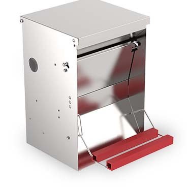Galvanised automatic poultry feeder 6kg  25,5x37,5x38,5cm