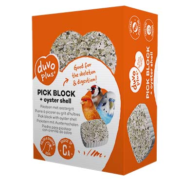 Pick block with oyster grit  200g - 7,2x9,7x3,5cm