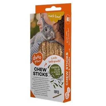 Chew sticks willow & alfalfa  70g - 10pcs - 12x1x1cm