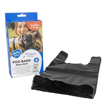 Poo bags classic easy close Black 80st - 18x34,5cm