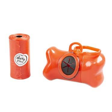 Poo bag dispenser bone Red 2x20st