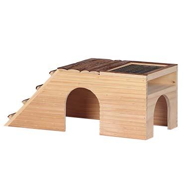Knaagdieren houten garden house 48x22x20CM