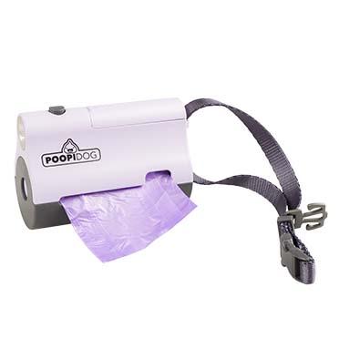 Poo bag dispenser led Purple 8,5x4x6cm