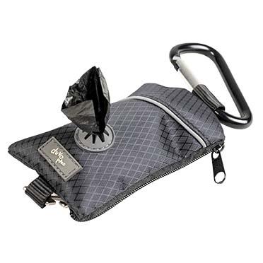 Distributeur sacs ramasse-crottes polyester Noir 6x20x1,5cm