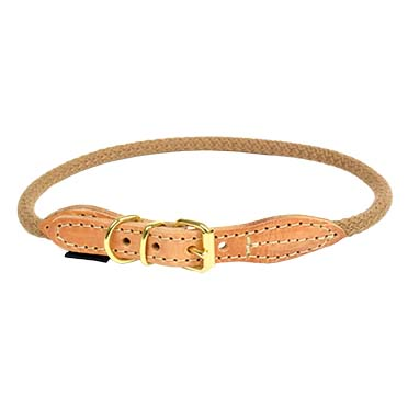 Forest halsband Taupe XL - 62-66cm/8mm