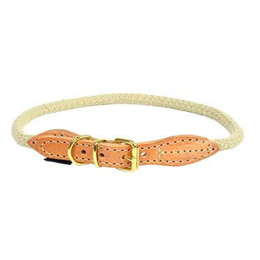 Forest halsband Beige XL - 56-64cm/14mm