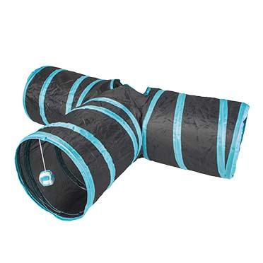 Play tunnel t-bone Blue/black 80x25cm