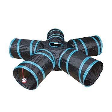 Play tunnel star Blue/black 100x25cm