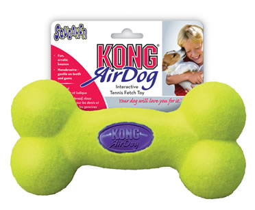Kong air squeaker bone Yellow M