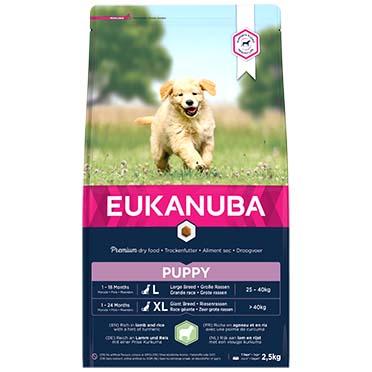 Euk dog puppy&junior large lamb&rice  2,5KG