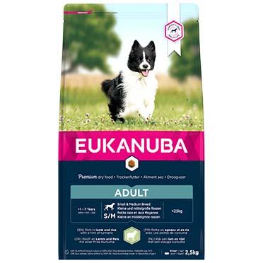 Euk dog adult sm&med lamb&rice  2,5KG