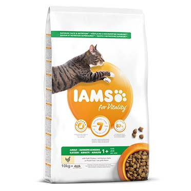 Iams for vitality adult cat chicken  10kg