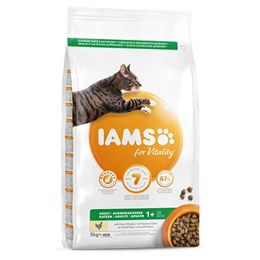 Iams for vitality adult cat chicken  3kg
