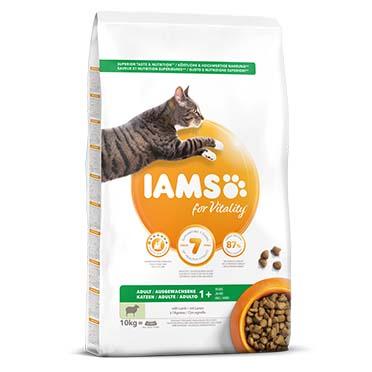 Iams for vitality adult cat lamb 10kg
