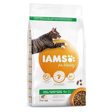 Iams for vitality adult cat salmon  3kg