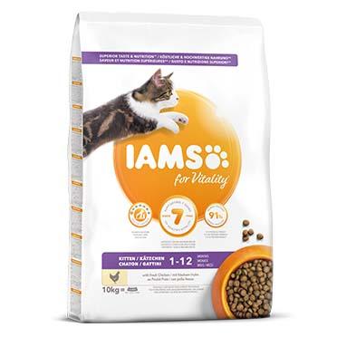 Iams for vitality kitten chicken 10kg