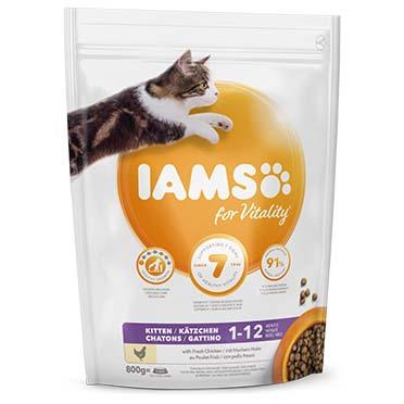 Iams for vitality kitten chicken  800g