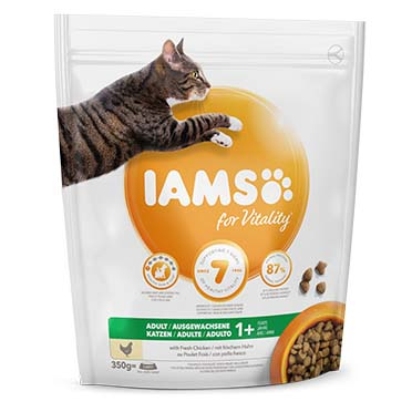 Iams for vitality adult cat chicken  350gr