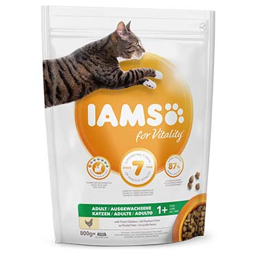 Iams for vitality adult cat chicken  800g