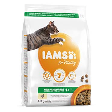 Iams for vitality adult cat chicken  1,5kg