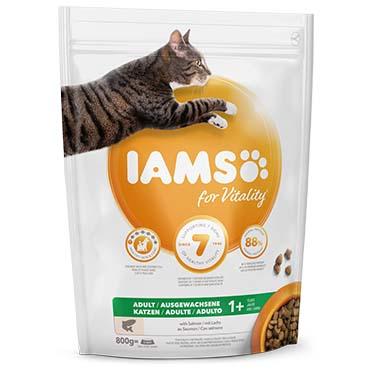 Iams for vitality adult cat salmon  800g