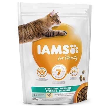 Iams for vitality cat adult sterilised chick  800g
