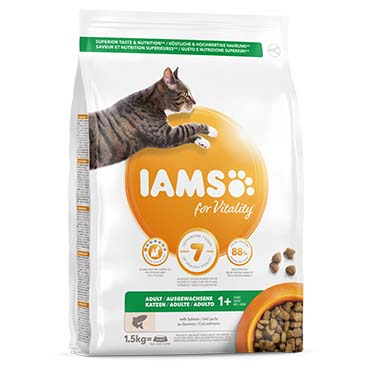 Iams for vitality adult cat salmon  1,5kg