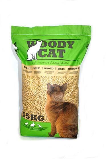 Cat litter woody cat 15kg  25L/15KG