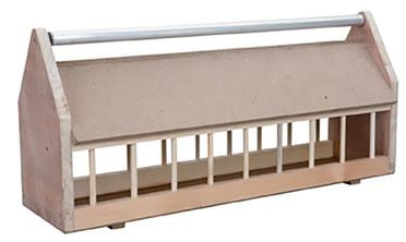 Wooden feeder for pigeon + metal rollerbar  100CM